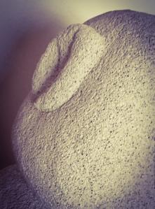 Skulpturdetail aus Ytong